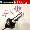2 xcnlight h7r hid xenon lâmpada do bulbo 35 w base de metal titular cerâmica revestimento 4300 k h7r 5000 k cnlight 6000 k automóvel luz styling