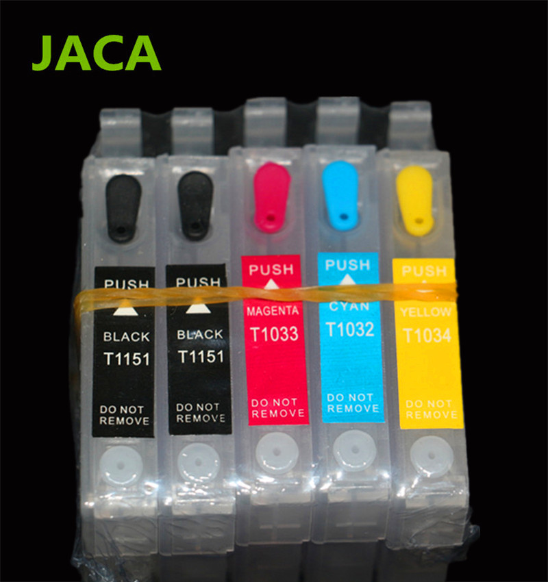 1Set Refillable Ink Cartridge For Epson T1110 TX515FN Printer For T1151 T1151 T1032 T1033 T1034 Cartridges with ARC Chip