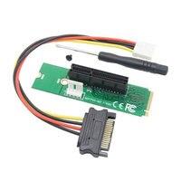 100 шт./лот NGFF M2 на PCI e 4x переходная плата для слота карты M ключ M.2 SSD Порты и разъёмы для адаптер PCI Express конвертер Riser карты M ключ M.2