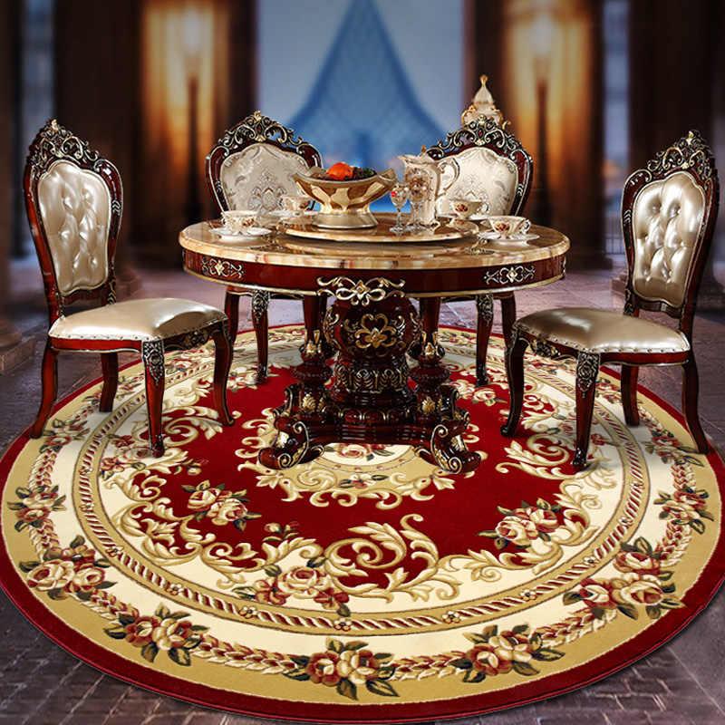 13 мм толщина жаккардовые круглые ковры для гостиной компьютерное кресло коврик для игр мягкие полипропиленовые ковры и ковры