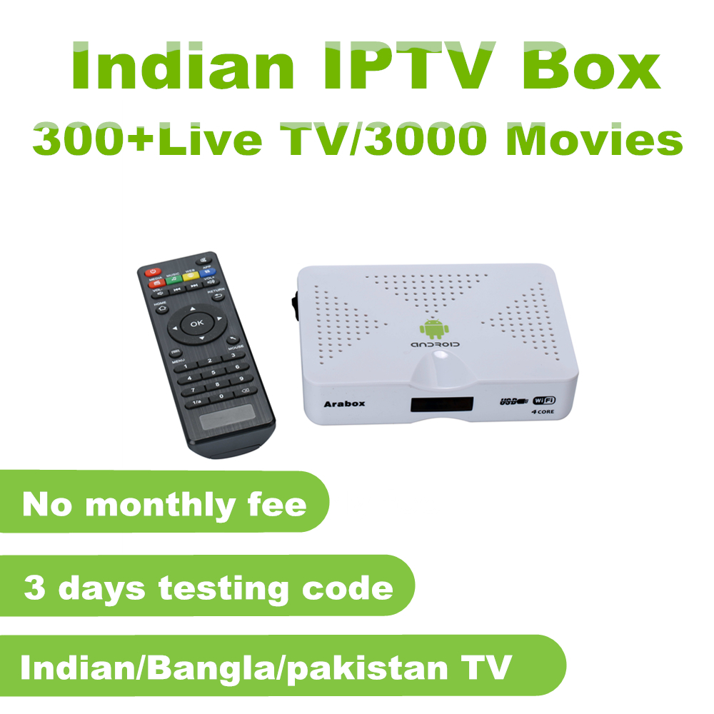 4k HD Indian IPTV Box with 300+ Indian Live TV Channels Thousands of
