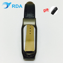 Metal+artificial leather Strap for Xiaomi Mi Band 2 Screwless Bracelet for MiBand 2 Smart Band Replace Accessories For Mi Band 2
