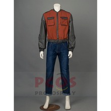 Back to the Future Part 2 Marty McFly Cosplay Costume Jacket / Coat mp002895