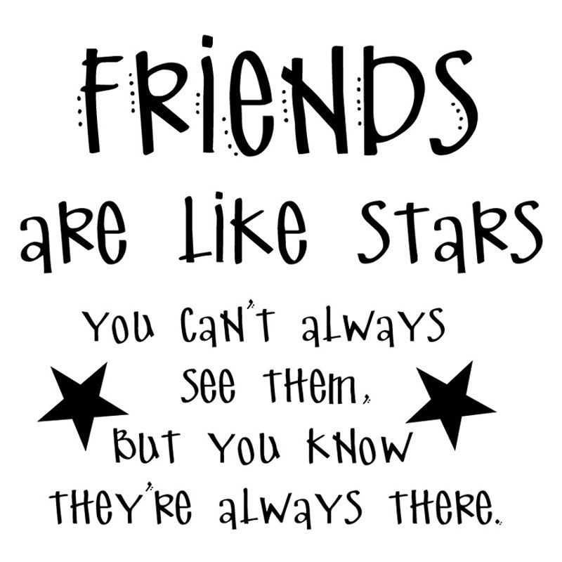 Friends Are Like Stars Sticker On Wall For Childs Bedroom