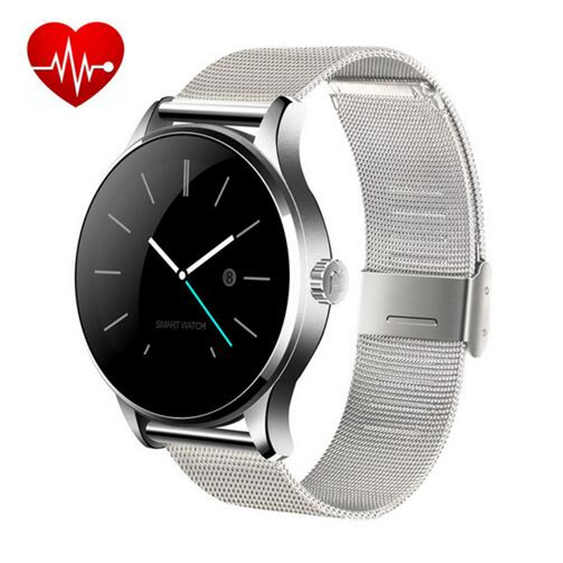 ФОТО 2016 New K88H Smart Watch With 1.22 Inch IPS Round Screen Support Anti-lost Heart Rate Monitor Bluetooth Watch For IOS Android