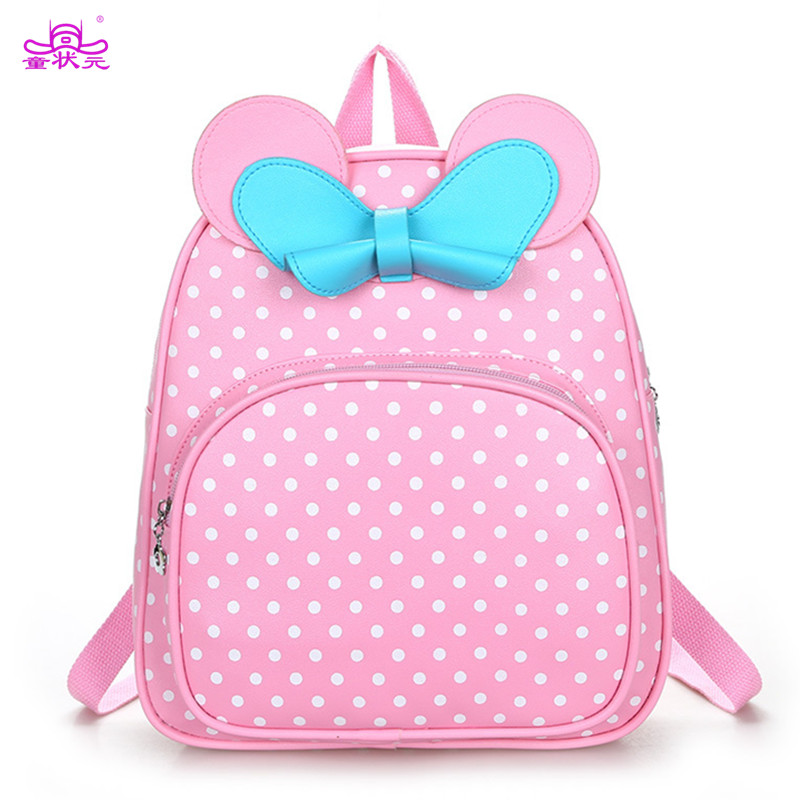TZY Princess Bag School Bags For Girls Kids Baby Orthopedic Backpacks Lovely Dot Bow Back To Schoolbag Mochila Eescolar