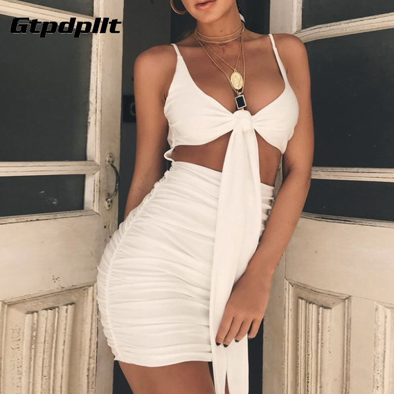 d7b47e2287 Gtpdpllt 2018 Sexy Summer Dresses Women White Backless Sleeveless Mini  Bodycon Dress Sheath Party Dress Women Black Vestidos-in Dresses from  Women's ...