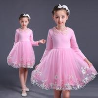 High Quality Velvet Rose Flower Girl Birthday Dress 8 Years Party Birthday Christening Dress Clothes Princess