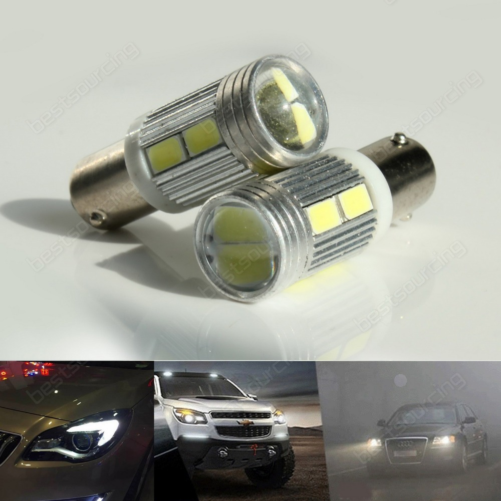 2x 433 434 <font><b>BAX9s</b></font> <font><b>H6W</b></font> 10 SMD <font><b>LED</b></font> Bulb Indicator Reverse Parking Side Light Lamps(CA231)