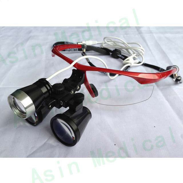 dental magnifier with led headlamp binocular medical loupes antifog glasses surgical ENT magnifier