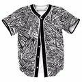 Pinturas abstratas de olhos frescos mens botões camisa homme jérsei de basebol 3d streetwear tees camisas hip hop marca clothing