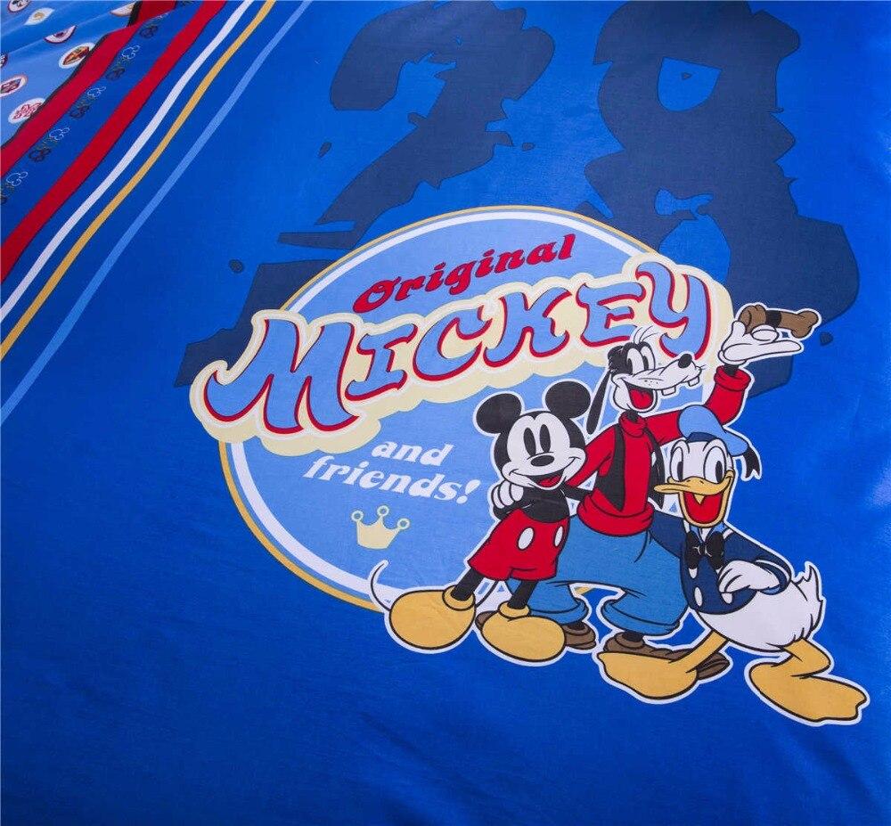 Azul disney mickey mouse juego de cama edredón reina tamaño twin full king size colcha de pareja niños dormitorio - 3