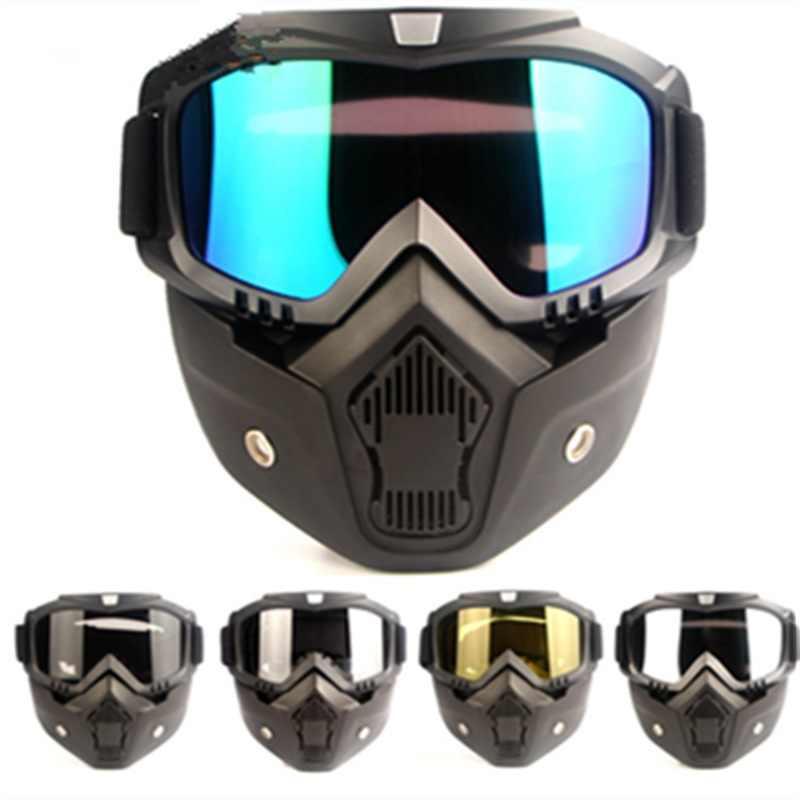 2019 Musim Panas Baru Knight Off-Road Kacamata Retro Gaya Harley Masker Kacamata Motocross Racing Kacamata Naik Keren Helmet Alat
