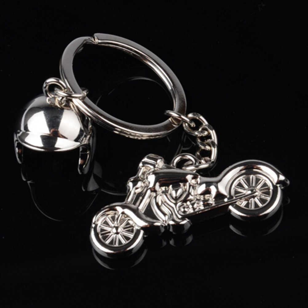 חם חכם מפתח מחזיק עבור רכב סטיילינג אביזרי אופנוע קסדת מפתח טבעות מנוע Keychain מתכת מוטוקרוס