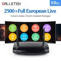 Dalletektv Smart Android IPTV Boîte Suédois Français 2500 Europe IP TV Canaux Wifi Grec Turc Portugal IPTV Box Media Player