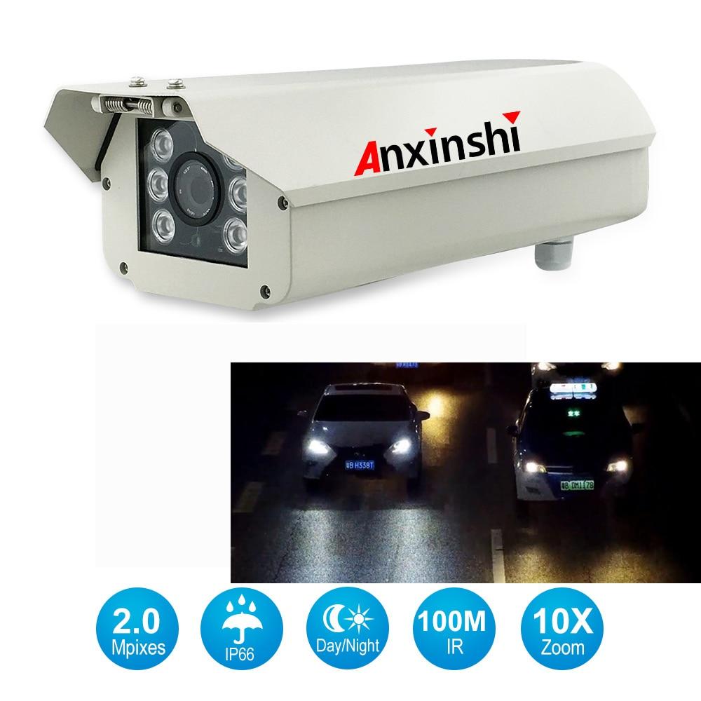 1080P Waterproof Onvif Professional 10x Zoom Reading Display License Plate Camera 2mp LPR IP Camera For Highways, Parking Lots.