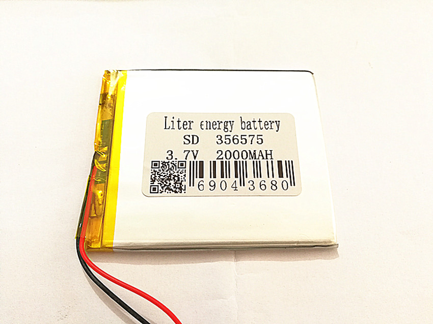 10pcs BIHUADE 3.7V,2000mAH,356575 Polymer lithium ion / Li-ion battery for TOY,POWER BANK,GPS,mp3,mp4,cell phone,speaker