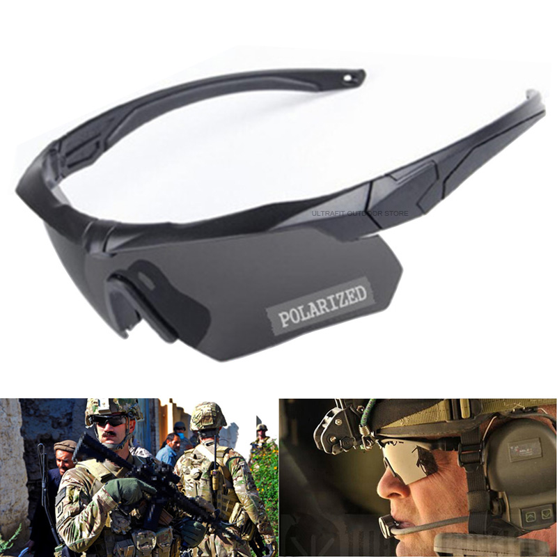3 Lens Polarized Tactical Goggles With Myopia Frame Military Army Shooting Glasses CS War Game Airsoft Eyewear Hunting Glasses