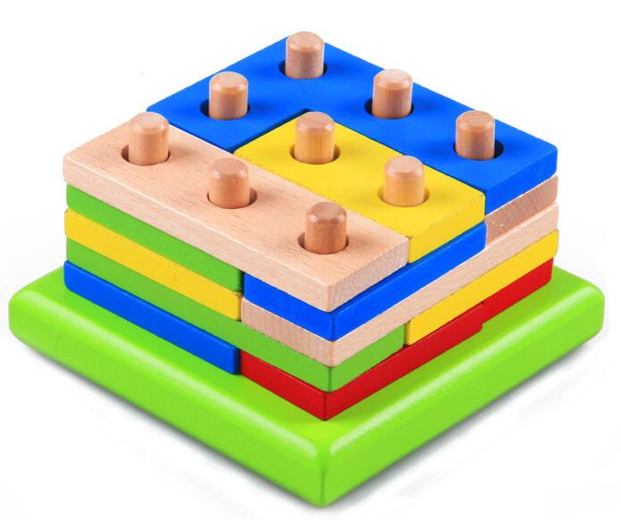 3d Wooden Brain Teaser Puzzle Colorful Iq Mind Educational