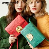 EMINI HOUSE Indian Series Genuine Leather Shoulder Bag Luxury Handbags Women Bags Designer Crossbody Bags For Women Cowhide Bag Shoulder Bags
