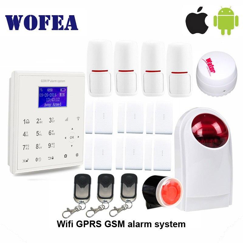 bilder für 2,4G smart home security wifi gprs wifi gsm alarm system Android/IOS APP fernbedienung ansage arbeit mit PT wifi kamera V8