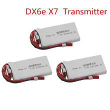 For Taranis Q X7 DX6e DX6 Transmitter Remote Controller Spare Part 7.4V 2S 2200mAh 8C Rechargeable Lipo Battery
