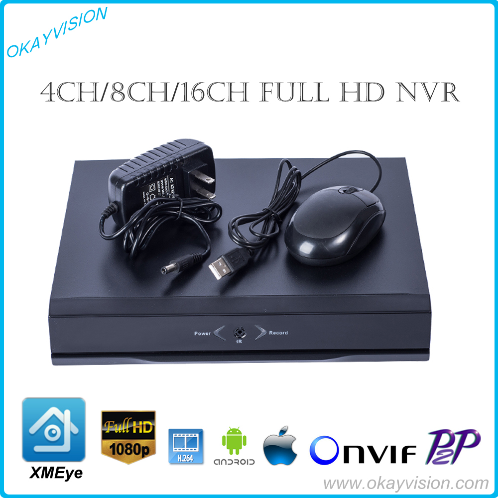 4ch 8ch 16ch FULL HD NVR Network Security Surveillance Video Recorder XMEye H.264 P2P Onvif 1080P NVR with HDMI and VGA Output h 265 h 264 4ch 8ch 48v poe ip camera nvr security surveillance cctv system p2p onvif 4 5mp 4 4mp hd network video recorder