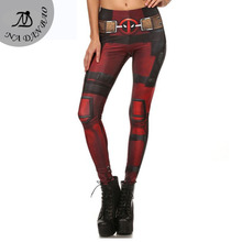 New Fashion Women leggings Fitness Super HERO Deadpool font b Leggins b font Printed legging for