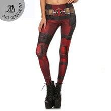 New Fashion Women leggings Fitness Super HERO Deadpool Leggins Printed legging for Woman pants KDK1577