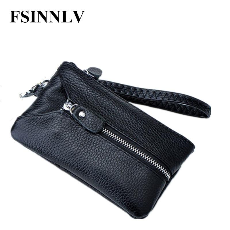 FSINNLV New Arrival Genuine Leather Key Holder Unisex Key Wallet 5 Colors Key Organizer Key Holder Car Housekeeper Wallet DC05