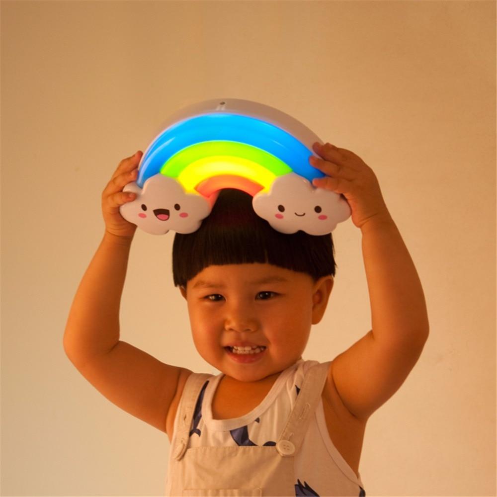 Rainbow LED Night Font B
