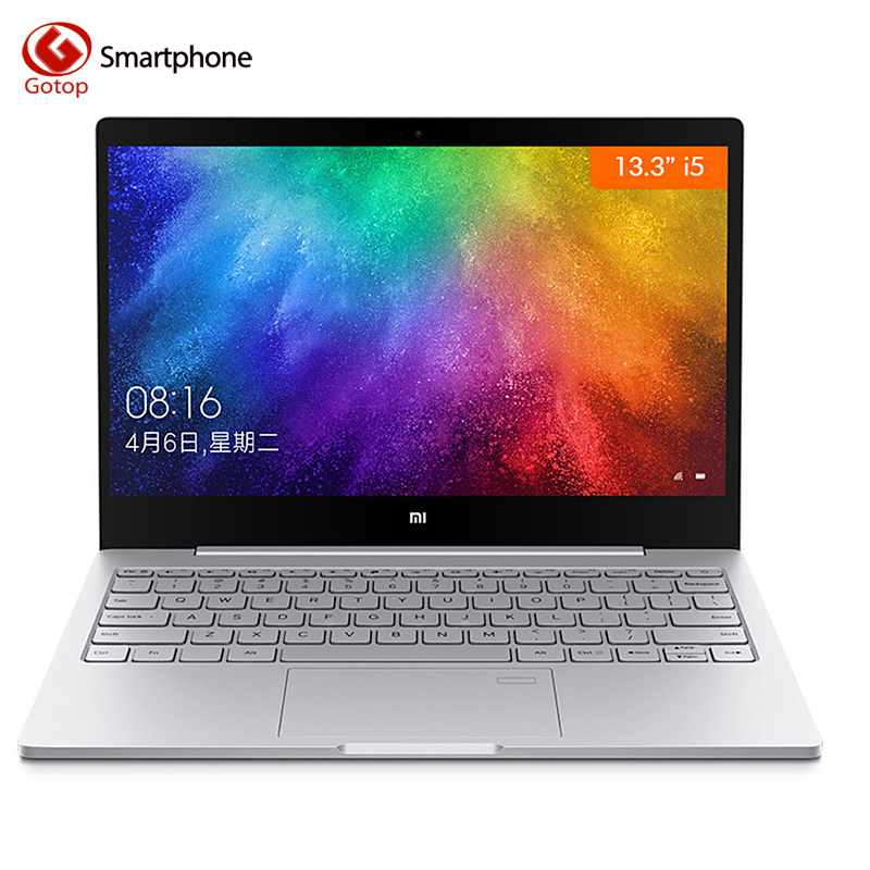 D'origine 13.3 pouce Xiao mi mi Portable Air Quad-Core Version Améliorée D'empreintes Digitales Reconnaissance Intel i5-8250U Windows 10 8 gb + 256 gb