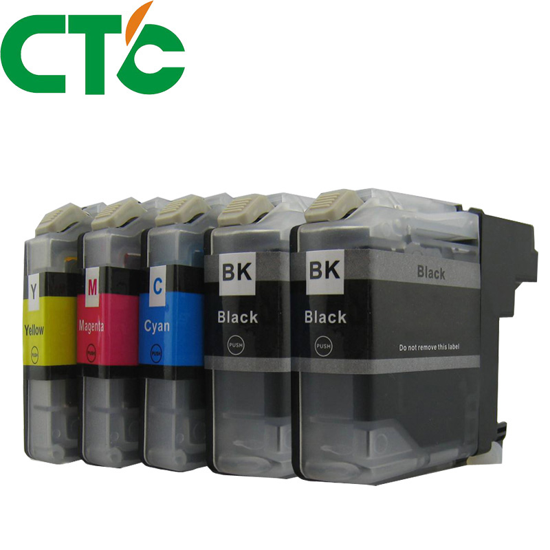 5 PCS LC 123 Ink Cartridge Compatible for Brother MFC-J4510DW MFC-J4610DW MFC-J4410DW J4710DW MFC-J6920DW J6720DW J6520DW