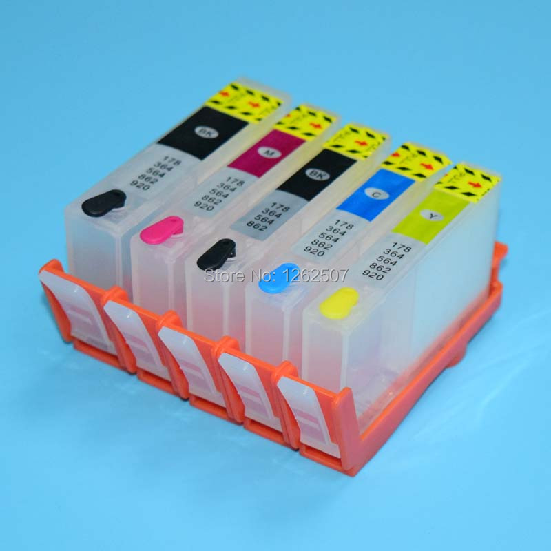 цена  Bulk ink cartridge empty refillable ink cartridge for hp 178 cartridge for hp c5380 c6380 d5460 c309g c309a c309c printer chip  онлайн в 2017 году