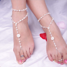 Imitation Pearl Multi-layer Fine Shiny One Foot Ring Anklet Chain Charm Fashion Gift Women Beach Jewelry Hot