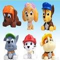 6 pçs/set Patrulha Brinquedo Do Banho Do Bebê Filhote de Cachorro Do Cão de Borracha Macia Patrulla Canina Cão Dos Desenhos Animados Figuras Modelo de Alta Qualidade Banheiro Garoto brinquedo