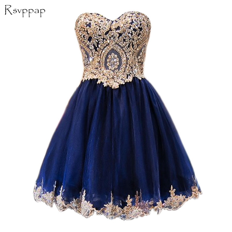 Sparkly A-line Sweet 16 Dresses Lace Short Navy Blue Homecoming Dresses 2016 貓 帳篷