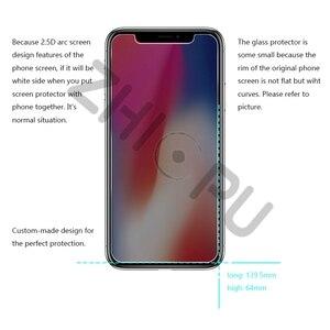Image 4 - Protector de pantalla para iPhone X de Apple, cristal templado de máxima calidad, 2,5d, borde de arco, privacidad, 10 unidades por lote