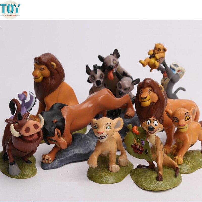 جديد 9 قطع و شخصيات Hyenas الأسد الملك سيمبا نالا تيمون وبومبا