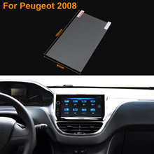 Car Styling 7 Inch GPS Navigation Screen Steel Protective Film For Peugeot 2008 Control of LCD Screen Car Sticker