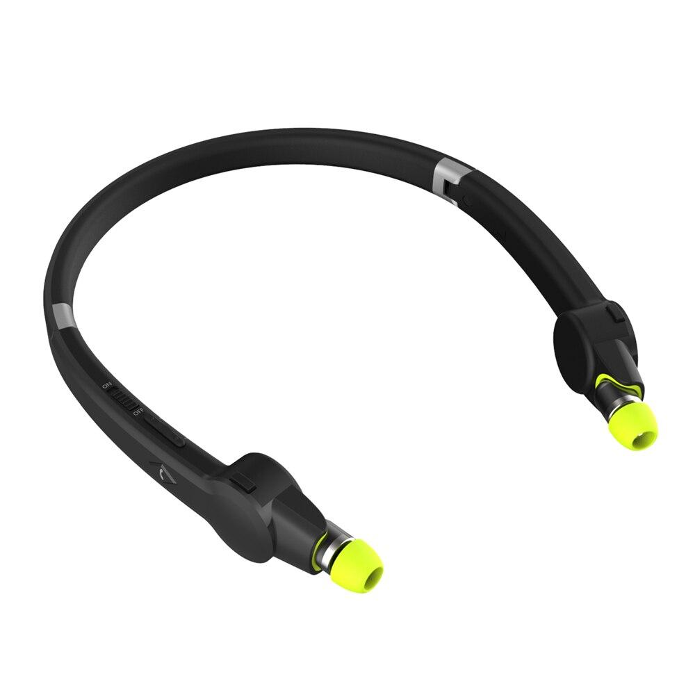 Suicen SX-802 Sport Bluetooth casque Sweatproof Rétractable Pliable Neckband Casque Sans Fil Voix Rapide Dans L'écouteur D'oreille