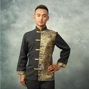 Spirng Traditional Thailand shirt Men tops Long sleeve Blouse