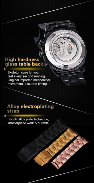 2e4a9327a Winner Watch Men Skeleton Automatic Mechanical Watch Gold Skeleton Vintage  Man Watch Mens FORSINING Watch Top Brand Luxury