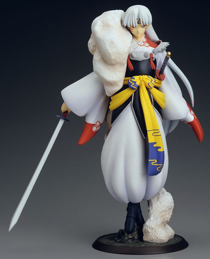 Anime Inuyasha Sesshoumaru Action Figure 1/8 scale painted figure First Ver. Sesshoumaru PVC figure Toy Brinquedos 24cm shining blade sakuya action figure 1 7 scale painted figure swimsuit ver sakuya pvc figure toy anime