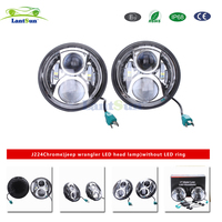 Pair Lantsun J224 7 Inch 50w LED Lamp H4 H13 Projection Headlights High Low Beam For