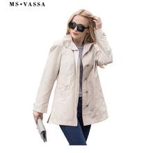 MS VASSA 2019 Jackets Women New Spring basic coat casual lad
