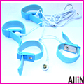 4pcs/lot Male Penis Enlargement Extender Product Electro Conductive Ribbon Cock Ring Electric Shock Chastity Device Sex Toy belt
