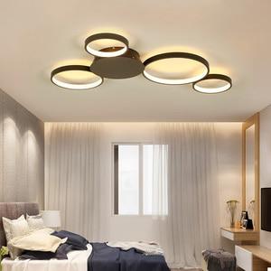 Image 1 - קפה או לבן גימור מודרני led תקרת אורות סלון חדר שינה מחקר חדר הורים AC85 265V Led תקרת מנורת גופי