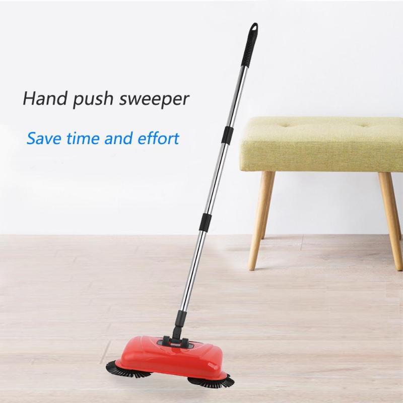 2 in 1 Edelstahl Kehrmaschine Push-Typ Magie Besen Kehrschaufel Griff Haushalts Reiniger Hand Push Kehrmaschine Werkzeug