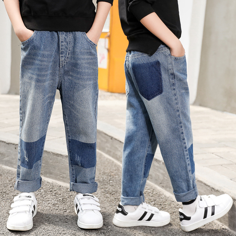 Teenagers 2018 Children Spring And Autumn Pocket Boys   Pants     Capris